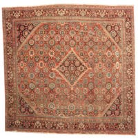 Herat Oriental Persian Hand-knotted 1920s Antique Mahal Wool Rug (10'4 x 10'6) - 10'4 x 10'6