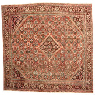 Herat Oriental Persian Hand-knotted 1920s Antique Mahal Wool Rug (10'4 x 10'6)