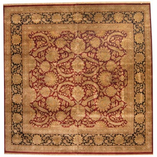 Herat Oriental Indo Persian Hand-knotted Khorosan Wool Rug (12' x 12')