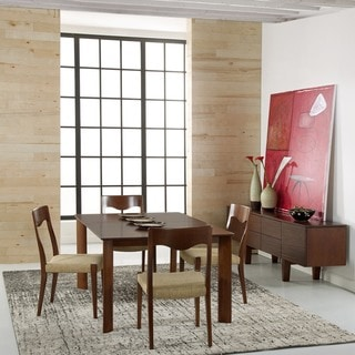 Saloom Ari 42 X 60 Rectangular Extension Maple Smooth Top Custom Dining Table In Walnut Finish