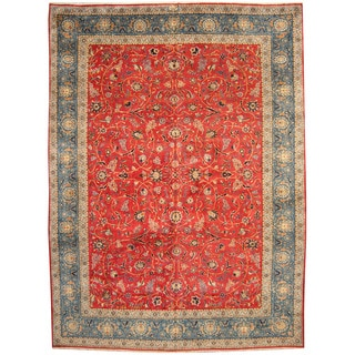 Herat Oriental Persian Hand-knotted 1960s Semi-antique Isfahan Wool Rug (11'3 x 15'7)