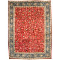 Herat Oriental Persian Hand-knotted 1960s Semi-antique Isfahan Wool Rug - 11'3 x 15'7