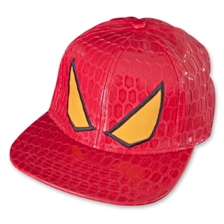 Spiderman Hat Face Red Snapback