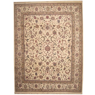 Herat Oriental Indo Persian Hand-knotted Kashan Wool Rug (11'9 x 15'4)