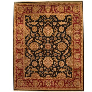 Herat Oriental Indo Persian Hand-knotted Khorasan Wool Rug (11'9 x 15')