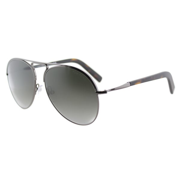 b836a625f18e6 Shop Tom Ford Cody TF 448 08B Ruthenium Aviator Metal Sunglasses ...