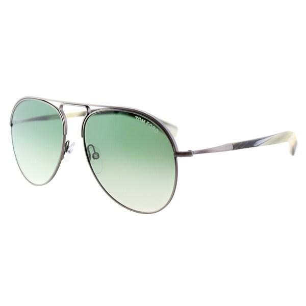 2f73804698b85 Tom Ford Cody TF 448 14P Antiqued Gunmetal Aviator Metal Sunglasses