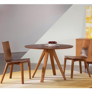 Saloom Avon 42 Round Maple Smooth Top Dining Table in Flax Finish