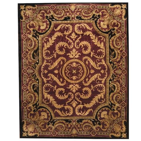 Handmade One-of-a-Kind Tibetan Aubusson Wool Rug (India) - 12'2 x 15'2