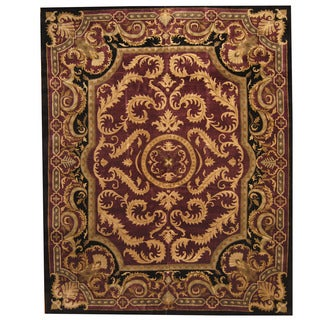 Herat Oriental Indo Tibetan Hand-knotted Aubusson Wool Rug (12'2 x 15'2)