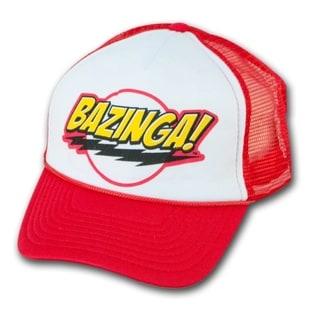 Big Bang Theory Cap Bazinga Fan Trucker Red Hat