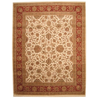 Herat Oriental Indo Persian Hand-knotted Khorasan Wool Rug (12' x 15'5)