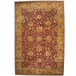 Herat Oriental Indo Persian Hand-knotted Khorasan Wool Rug (12'3 x 18'6)