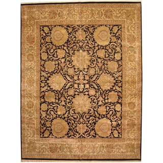 Herat Oriental Indo Persian Hand-knotted Khorasan Wool Rug (12' x 15'6)