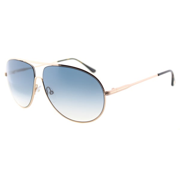 c259d27dd3c00 Tom Ford Cliff TF 450 28P Shiny Rose Gold Aviator Metal Sunglasses