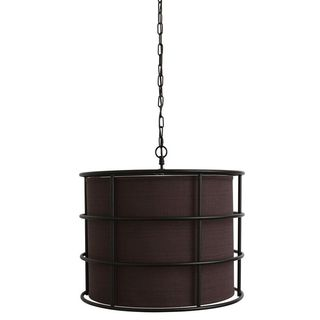 Bronze Steel Cage Pendant Light Fixture