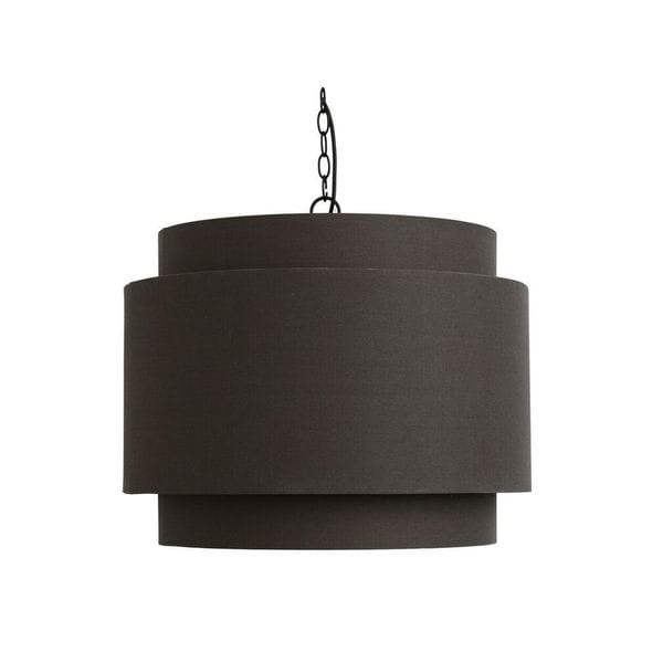Shop Round Dark Grey Fabric Pendant Lamp Shade Free Shipping Today