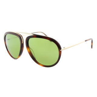 Tom Ford Stacy TF 452 56N Havana Aviator Plastic Sunglasses