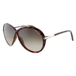 Link to Tom Ford Tamara TF 454 52K Dark Havana Fashion Plastic Sunglasses Similar Items in Women's Sunglasses