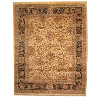 Herat Oriental Indo Persian Hand-knotted Khorasan Wool Rug (12' x 15')