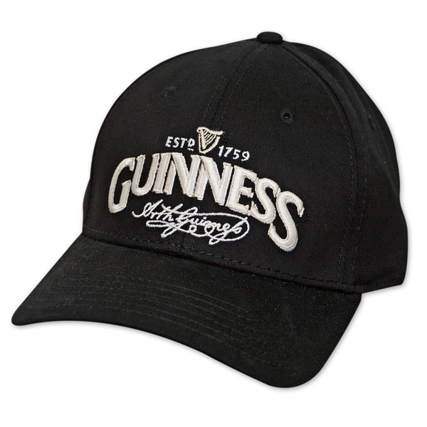 ... super popular 25bcd d2dfb Guinness Signature Label Black Hat ... df8b58006ab5