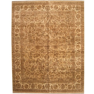 Herat Oriental Indo Persian Hand-knotted Khorasan Wool Rug (12'1 x 15'3)