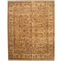 Herat Oriental Indo Persian Hand-knotted Khorasan Wool Rug - 12'1 x 15'3