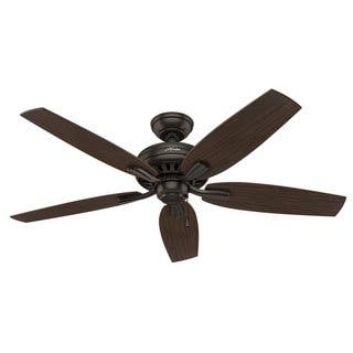 Bronze finish ceiling fans for less overstock hunter newsome collection bronze and roasted walnut 52 ceiling fan aloadofball Images