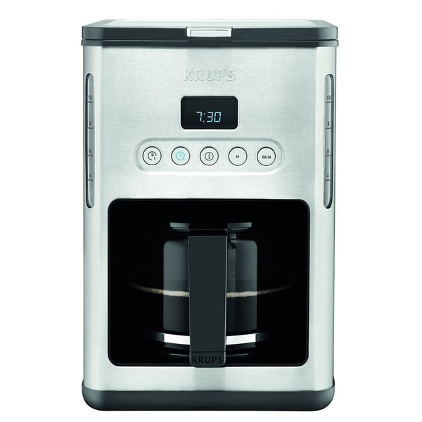 KRUPS KM442D Control Line 10-Cup Programmable Coffee Maker with Stainless Steel Finish
