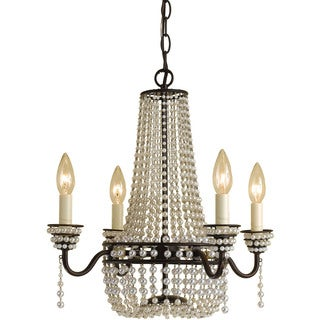 AF Lighting Cream Beads 7003-4H Parlor Mini Chandelier