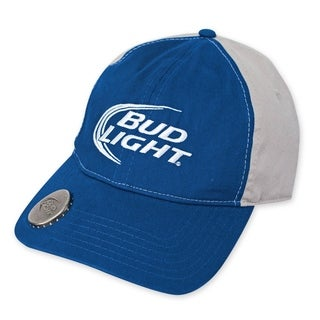 Bud Light Two-Tone Blue And Grey Bottle Opener Hat