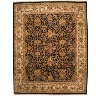 Herat Oriental Indo Persian Hand-knotted Khorasan Wool Rug (12'1 x 15'1)