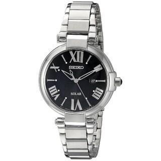 Seiko Women's SUT173 Stainless Steel Solar Silver SilverTone Water Resistant Watch