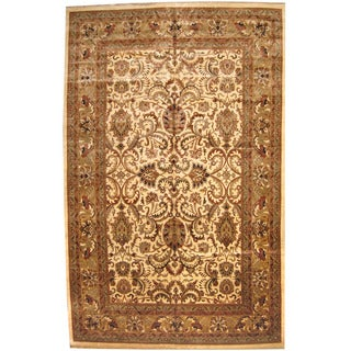 Herat Oriental Indo Persian Hand-knotted Khorasan Wool Rug (12' x 18'7)