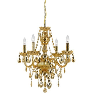 AF Lighting Gold 8912-4H Naples 4-Light Mini Chandelier