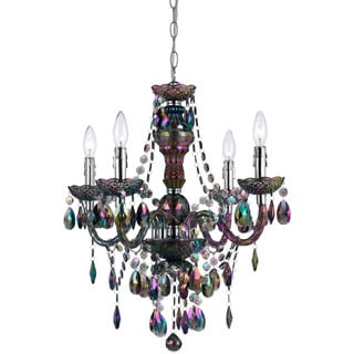 AF Lighting Iridescent Smoke 9001-4H Naples 4-Light Mini Chandelier