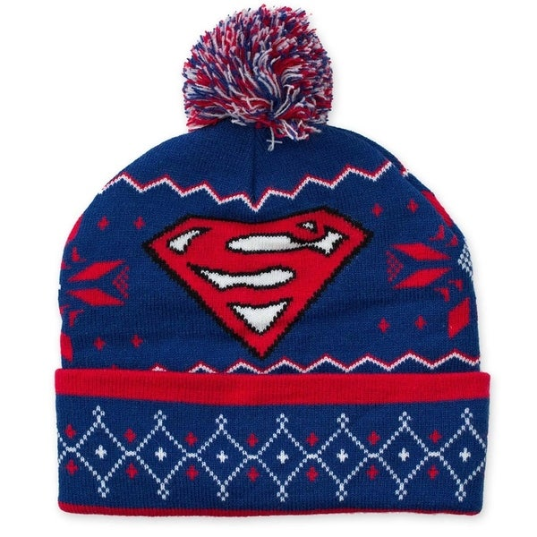 Shop Superman Pom Pom Beanie - Free Shipping On Orders Over  45 ... 992d250d76b7