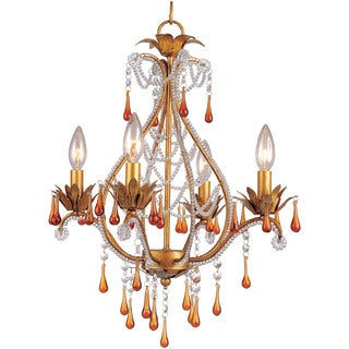 AF Lighting 4940-4H Josephine Mini Chandelier