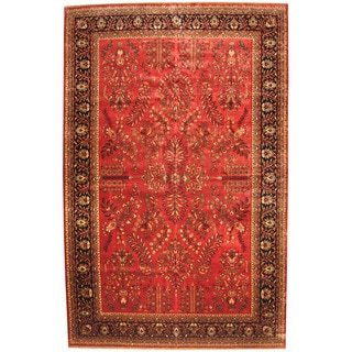 Herat Oriental Indo Persian Hand-knotted Sarouk Wool Rug (11'8 x 18'1)