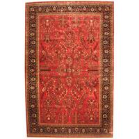 Herat Oriental Indo Persian Hand-knotted Sarouk Wool Rug (11'8 x 18'1) - 11'8 x 18'1
