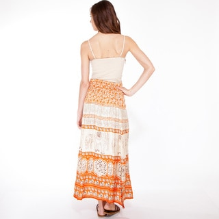 Indian Elephant Bohemian Peasant Skirt (Nepal)