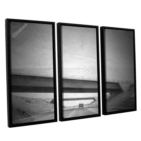 ArtWall Mark Ross's 'Few' 3-piece Floater Framed Canvas Set