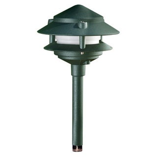 Lucienne 1-Light Outdoor Black Path Light