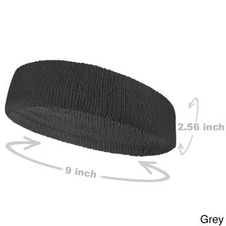 COUVER Premium Quality Large Basketball Terry Cloth Head sweatband(1 Piece)