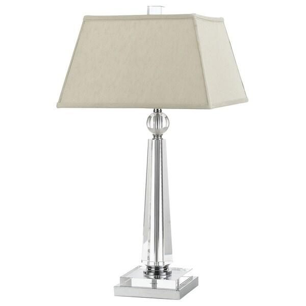 AF Lighting 8211-TL 8211 Crystal Table Lamp- Cream Shade