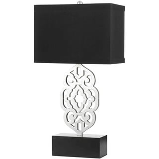 Grill Table Lamp- Silver Leaf