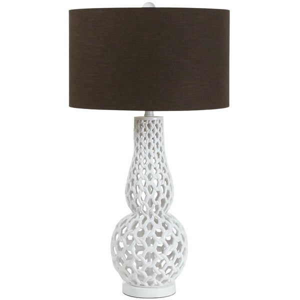 AF Lighting White 8278-TL Chain Link Table Lamp
