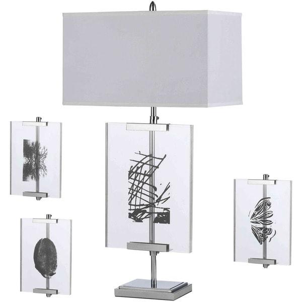 AF Lighting 8316-TL Easel Table Lamp with Interchange Panels