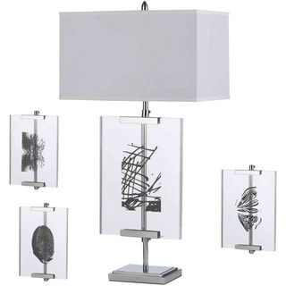 AF Lighting 8316-TL Easel Table Lamp with Interchange Panels