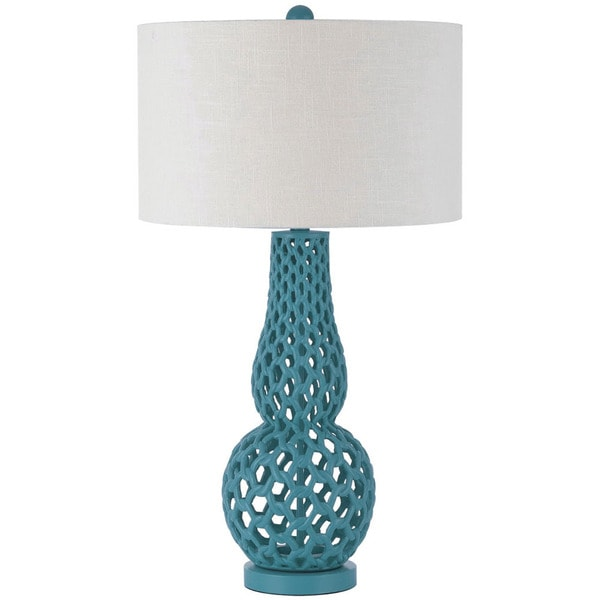 AF Lighting Brilliant Blue 8485-TL Chain Link Table Lamp